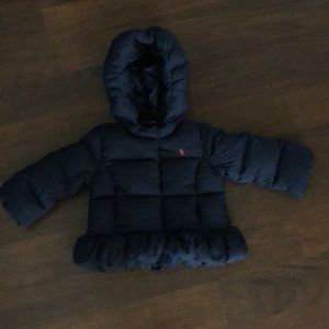 Ralph Lauren baby girl puff jacket